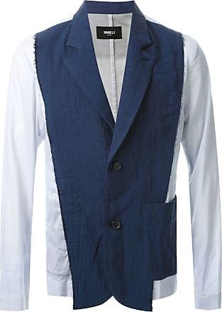 Yang Li Blazer de linho - Azul