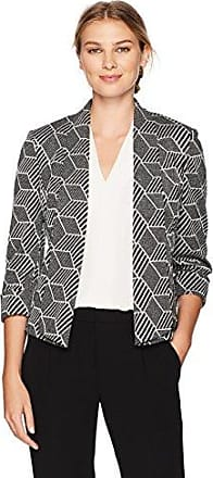 Kasper Womens Jewel Neck Knit Jacquard Fly Away Jacket