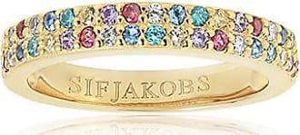 Sif Jakobs Jewellery Ring Corte Due - 18K vergoldet mit bunten Zirkonia