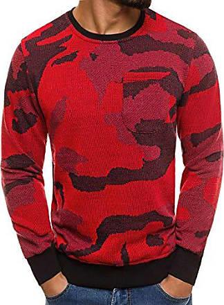 9000951e5f9cbf OZONEE Herren Mix Pullover Sweatshirt Langarmshirt Motiv Strickpullover  Sweats Sweater Militärstil Camouflage Pulli MECHANICH 2021 L