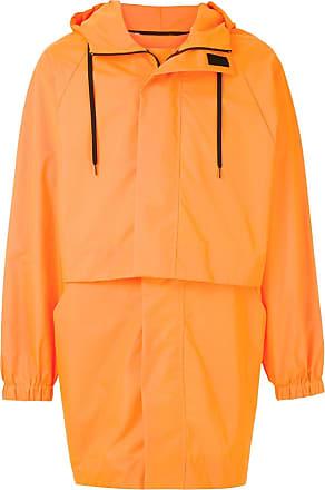 Osklen drawstring long-sleeve raincoat - ORANGE