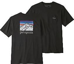 Patagonia Schwarzes Logo Ridge Pocket Tee - s | black - Black/Black