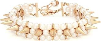 Junya Watanabe Faux pearl and brass bracelet