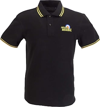 Ikon Original Mens Polo Shirts (XX Large, Black/Yellow)