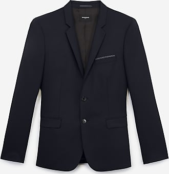 The Kooples Slim-fit blue formal jacket in stretch wool - MEN