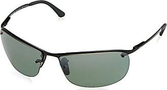 Ray-Ban RB3542 Chromance Lens Wrap Sunglasses, Black Frame/Grey Mirror Lens (002/5L)