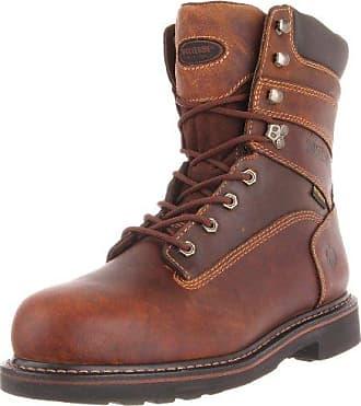 Wolverine Mens Brek 8 Inch Steel Toe Work Boot,Brown,9.5 M US