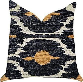 Plutus Brands Bohemian Ikat Double Sided Luxury Throw Pillow 18 x 18 Blue/Orange