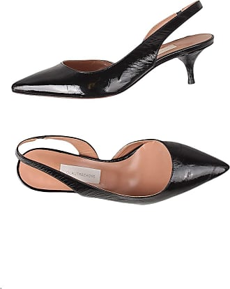 L'autre Chose Leather Sandal Polished Effect 5 CM Heel Black Size: 4 UK
