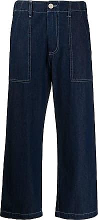 JEJIA Calça jeans flare com cintura alta - Azul