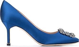 Manolo Blahnik Pumps Hangisi con decorazione - Di colore blu