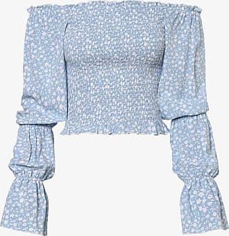 NA-KD Damen Bluse blau