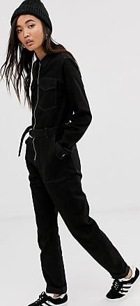 Weekday belted boilersuit in black