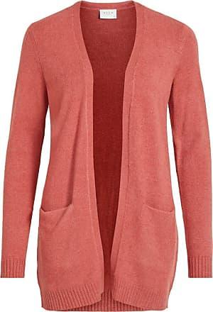 Vila Womens VIRIL L/S Open Knit Cardigan-NOOS Sweater, Dusty Cedar, Detail:Melange, XL