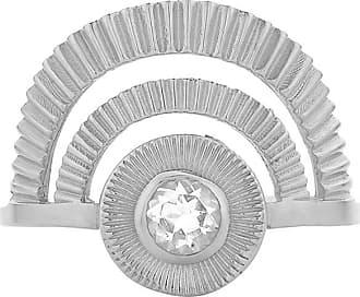 Zoe & Morgan Silber mit weißem Zirkon Golden Hour Ring - xl - Silver/White