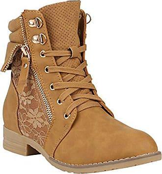 Stylische Damen Stiefeletten Worker Boots Spitze Knöchelhohe