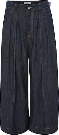 J.W.Anderson Calça jeans pantalona com pregas - Azul