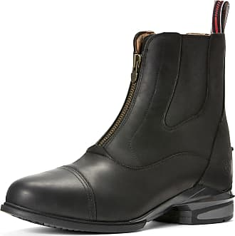 Ariat Mens Devon Nitro Paddock Boots in Black Leather, EE Wide Width, Size 10.5, by Ariat