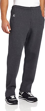 Russell Athletic Mens Dri-Power Open Bottom Sweatpants with Pockets, Black Heather, XXX-Large