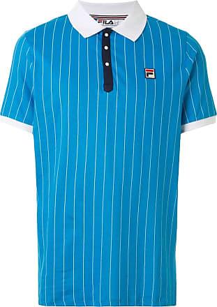 Fila Poloshirt mit Logo-Patch - Blau