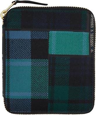 Comme Des Garçons Comme des garcons wallet Tartan patchwork zip-around wallet GREEN U