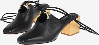 Salvatore Ferragamo Leather LAINO Lace Up Mules 6 cm size 8,5