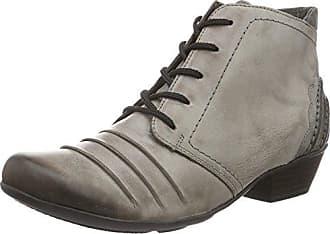 40b945f3fa5b2f Remonte Damen D7387 Combat Boots Grau Cigar Stein)