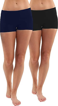 iLoveSIA 2Pack Womens Knickers Yoga Gym Workout Boy Shorts Black+Blue XL
