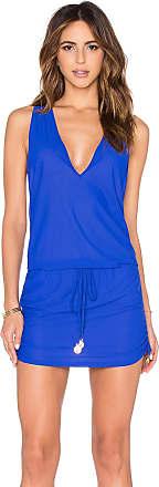 Luli Fama Cosita Buena T-Back Mini Dress in Blue