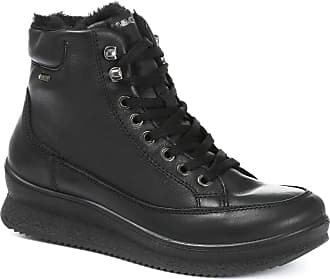 Igi & Co Gore Tex Water Resistant Leather Lace-Up Ankle Boo Black