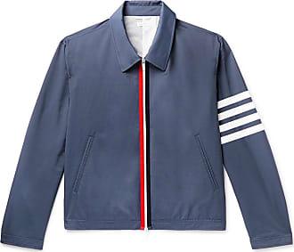 Thom Browne Slim-fit Striped Shell Blouson Jacket - Navy