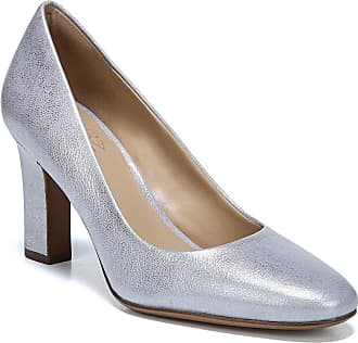 Naturalizer Womens Gloria Pumps, LT Silver Leather, 9.5 M