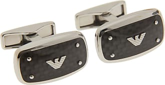 Emporio Armani Cufflinks for Men On Sale in Outlet, Silver, Silk, 2017, One Size