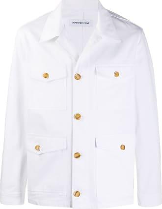 Department 5 Jaqueta jeans com bolsos - Branco
