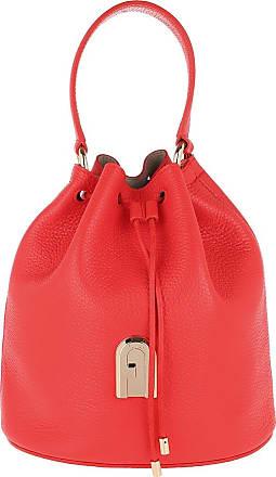 Furla Bucket Bags - Sleek Small Drawstring Fuoco Toni Nero - red - Bucket Bags for ladies