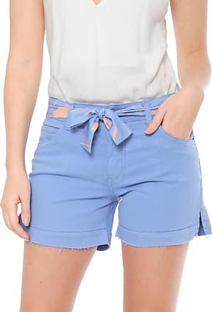 Nem Short Sarja Nem com Faixa Alessandra Azul