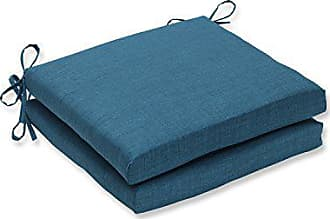 Pillow Perfect Outdoor/Indoor Rave Teal Squared Corners Seat Cushion 20x20x3 (Set of 2)