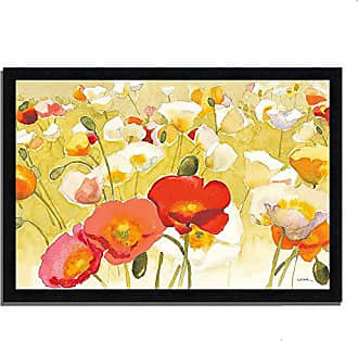 Tangletown Fine Art My Iceland Plot I by Shirley Novak Framed Art, Yellow/Red/White