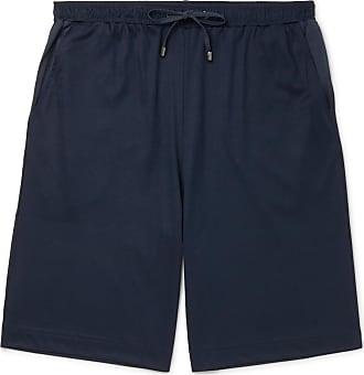 Zimmerli Cotton And Modal-blend Drawstring Pyjama Shorts - Navy