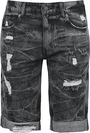 e5cd8746 Fashion Victim Destroyed Washed Shorts - Shorts - svart