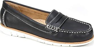 White Mountain Womens Brianna Boat Shoe, Black, 5.5 UK