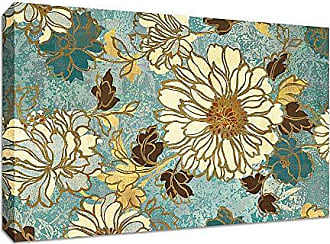 Tangletown Fine Art Sophias Flowers Blue by Wild Apple Portfolio Gallery Wrap Canvas Art White