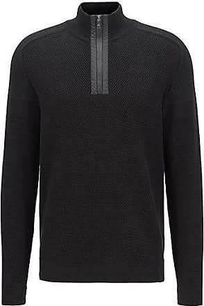 BOSS Regular-fit sweater in organic-cotton blend