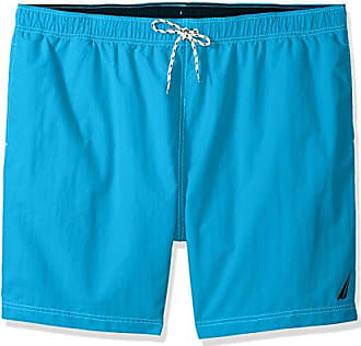 fdfeeabe00 Nautica Mens Big Solid Quick Dry Classic Logo Swim Trunk, Bright Blue jig,  3XLT