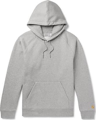 Carhartt Work in Progress Chase Mélange Fleece-back Cotton-blend Jersey Hoodie - Gray