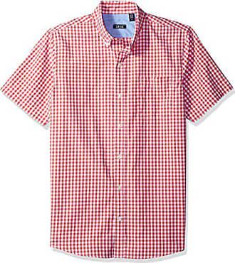 0190cee3cdf Izod Mens Breeze Short Sleeve Button Down Gingham Shirt