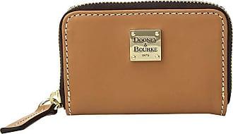 Dooney & Bourke Beacon Zip Around Credit Card Case (Natural/Natural Trim) Credit card Wallet
