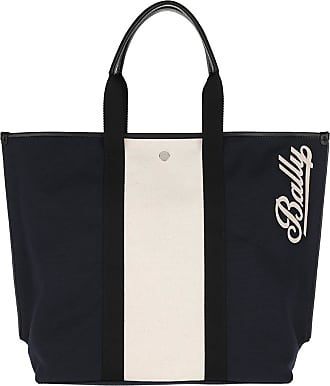 Bally Tote - Canvas Tote Bag Medium Ink - blue - Tote for ladies