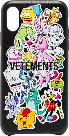 VETEMENTS Monster Stickers iPhone XS case - Preto