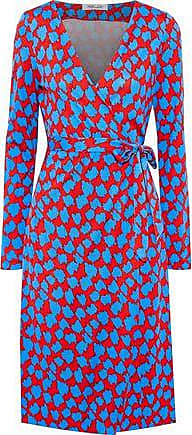 Diane Von Fürstenberg Diane Von Furstenberg Woman Julian Printed Silk-jersey Wrap Dress Red Size 10
